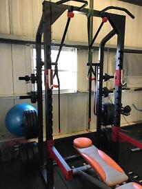 Power Rack & Olympic Weights