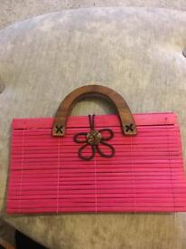 Unique ladies wooden handbag