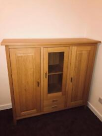 Solid and heavy G-Plan light oak cabinet.