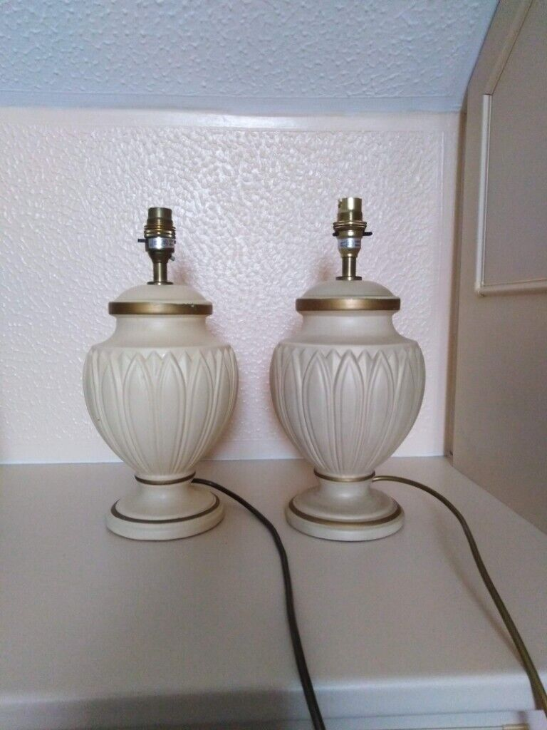 Picture of: Pair Of Bhs Grecian Style Cream Table Lamp Bases In Fareham Hampshire Gumtree