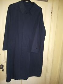 Gents Ahler navy blue continental rain coat