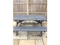 Solid sturdy picnic bench