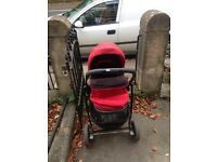 Graco pram in excellent condition. Chilli red
