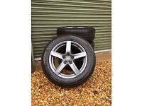 """Alutec Grp Graphite 18"""" Alloys with Vredestein Wintrac 4 Xtreme Tyres"""