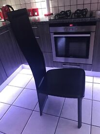 Extendable Black Glass Dining Table