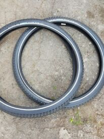 2 sets of schwalbe level 6 puncture proof tyres