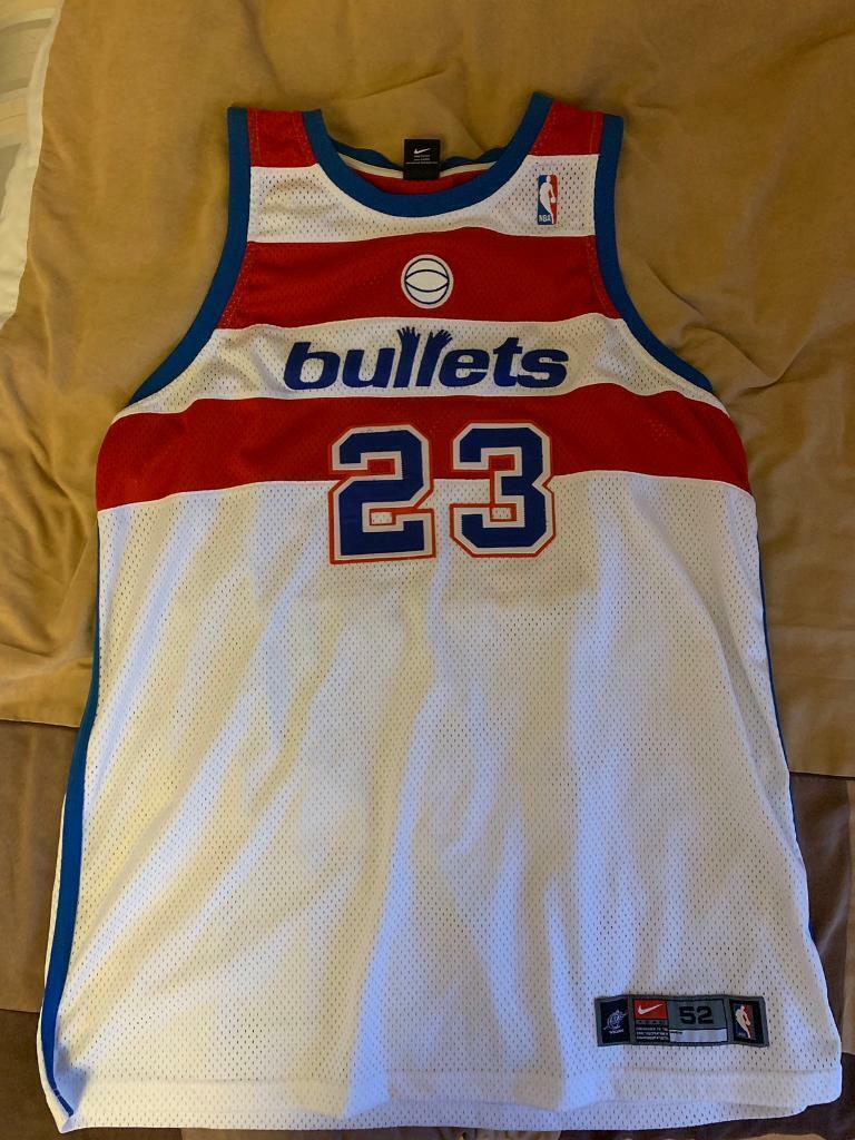 41f1f6e0 NBA Nike Swingman Jersey Michael Jordan Washington Bullets Large Champion  Gold