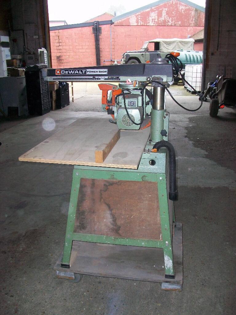 Dewalt Power Shop Dw 125 Radial Arm Bench Saw 240v In