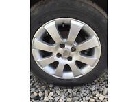 "15"" Vauxhall corsa Astra Zafira 4/100 alloy wheels"