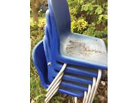 Free 5 blue chairs