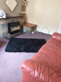 Two bed terraced house, two recep rooms, gas CH, dble glazing, Bangor, part furnished