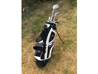Men's RH Golf clubs - Complete set plus carry bag - Dunlop Irons and Woods