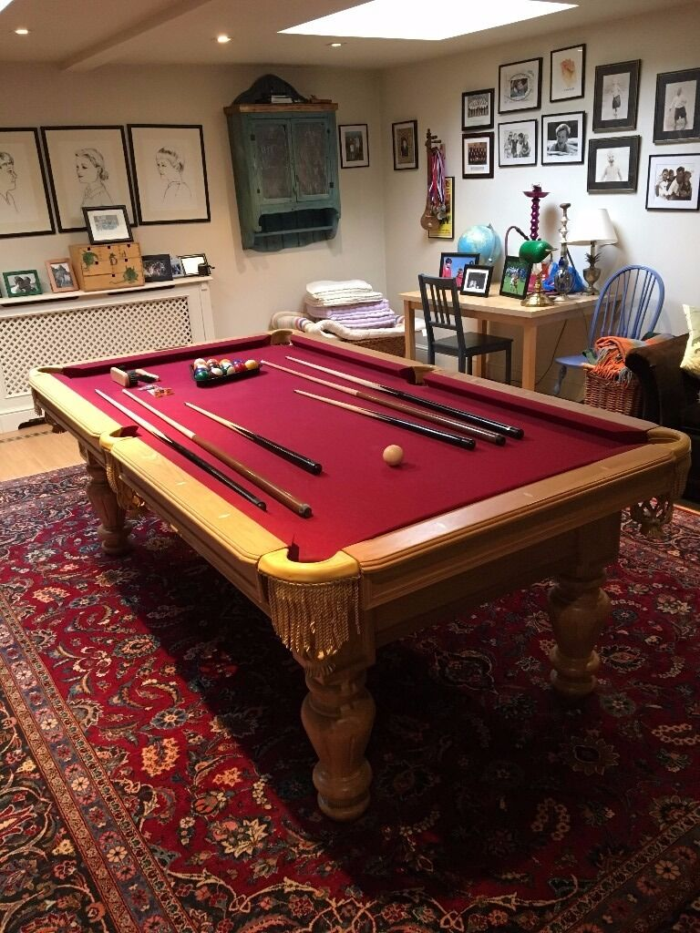 Riley Manhattan Foot Slate Based USA Pool Table In Wimbledon - Manhattan pool table