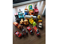large selection of toy cars / Trucks