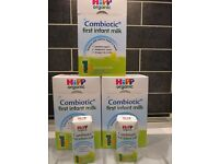 HiPP Organic Combiotic First Infant Milk - New & sealed.