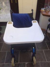 Wheelchair tray table