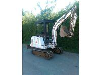 BOBCAT x125 digger / EXPORT / swap 4x4 tractor mini digger