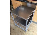IKEA Udden Kitchen trolley Silver-colour/stainless steel