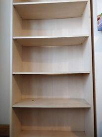 Solid pine wood large bookshelf. Bedroom, living room furniture