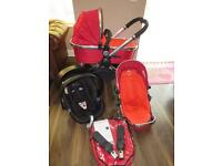 iCandy Peach Travel System bright red