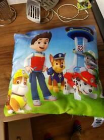 Paw patrol cushion.