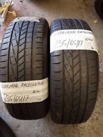 2X TYRES 235 65 17 GOODYEAR