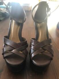 Office Wedge Sandals Size 5