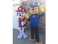 Chase and Marshall Paw Patrol Lookalike Mascots for hire
