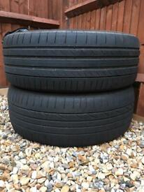 2 x SUV Continental Used Tyres 235/55 R19