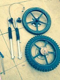 Kawasaki ar 50 / ar 80 and kh 100 wheels
