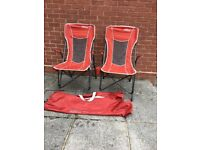 QUEST AVIATOR CAMPING CHAIRS x 2