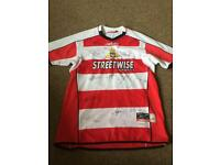 Doncaster rovers home signed shirt. 06/07 season