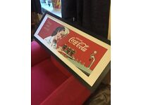 Framed Print- Coca-Cola- Vintage- Excellent Condition