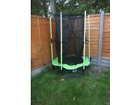 Small trampoline with net