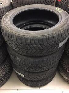 4 Used 215/55R17 Goodyear UltraGrip winter tires