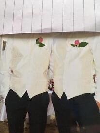 Wedding cravats and waistcoats