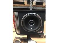"""Vibe 1600w 12"""" built in AMP sub"""