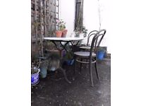 Antique French cast iron and Marble table. Suit hall, dining, conservatory or garden. Beautiful
