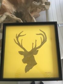 Framed chevron Stag print