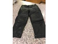 Children's leather motorbike trousers