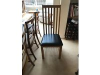 2 Solid Oak Dining Table Chairs immaculate Condition with additional 2 to be discussed