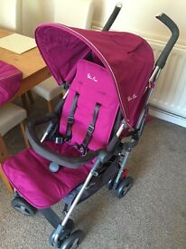 New silvercross reflex stroller pram raspberry