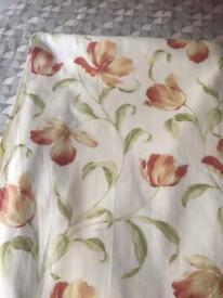 Cream coloured curtains