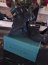 Buscemi 100mm Leather Sneaker - Black/Gold!!