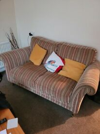FREE!!!!!! 2 seater sofa and footstall