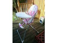 High chair for babygirl