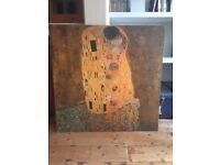Beautiful IKEA Picture The Kiss (Motif created by Gustav Klimt)
