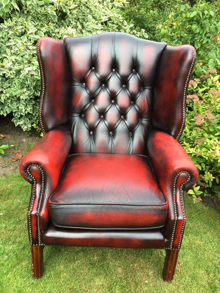 Large Chesterfield Wing Back Chair In Anlaby East