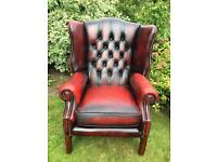 Large Chesterfield wing back chair