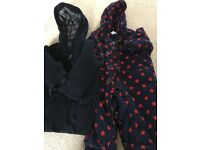 Baby 6-9 months feu follet all in one and John Lewis coat